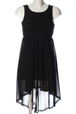H&M Divided Vokuhila-Kleid schwarz Elegant