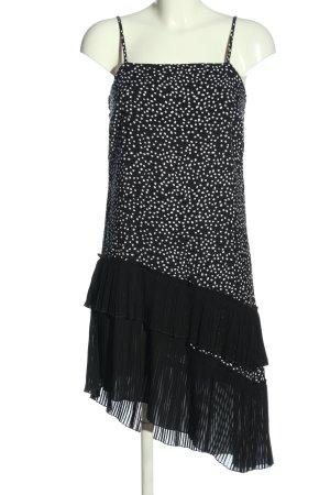 H&M Divided Vokuhila-Kleid schwarz-weiß Punktemuster Casual-Look