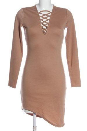 H&M Divided Robe bas asymétrique rose chair style décontracté