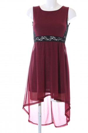 H&M Divided Vokuhila-Kleid rot-schwarz Casual-Look