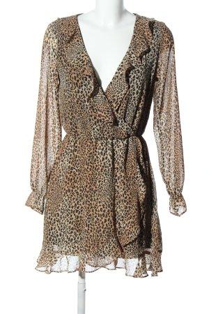 H&M Divided Robe à volants motif léopard élégant