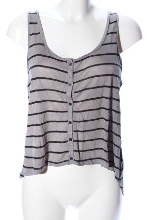 H&M Divided Top tipo cascada negro-gris claro estampado a rayas look casual