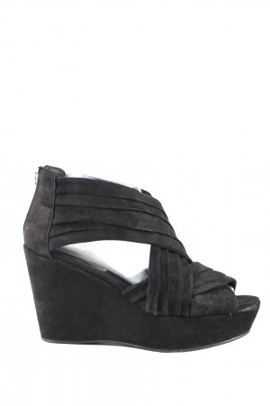 H&M Divided Wedges Sandaletten schwarz Casual-Look