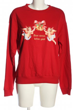H&M Divided Christmasjumper red themed print casual look