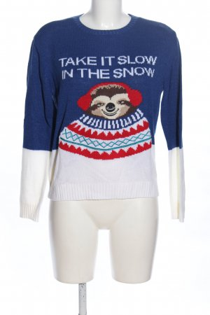 H&M Divided Christmasjumper themed print casual look
