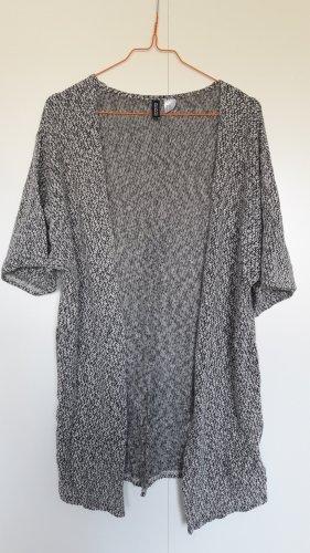 H&M Divided Weste Strick Kimono Kurzarm schwarz weiß Gr. XS