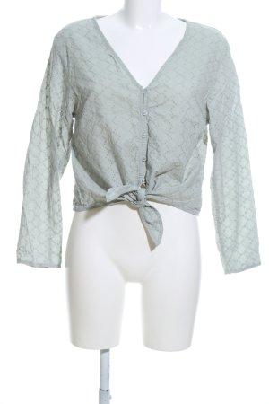 H&M Divided Blusa cruzada gris claro look casual