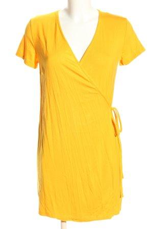 H&M Divided Robe portefeuille jaune primevère style décontracté
