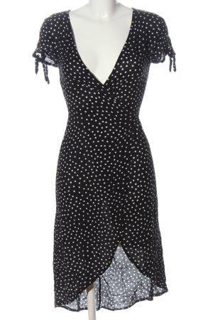 H&M Divided Wikkeljurk zwart-wit gestippeld patroon casual uitstraling