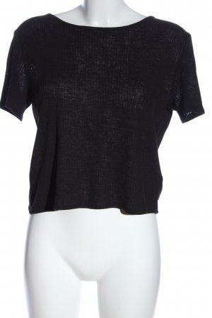 H&M Divided Wraparound Shirt black casual look