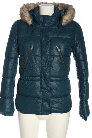 H&M Divided Kurtka zimowa niebieski-brązowy Pikowany wzór W stylu casual