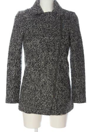 H&M Divided Winter Coat light grey-black flecked casual look