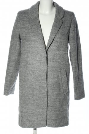 H&M Divided Winter Coat light grey flecked business style