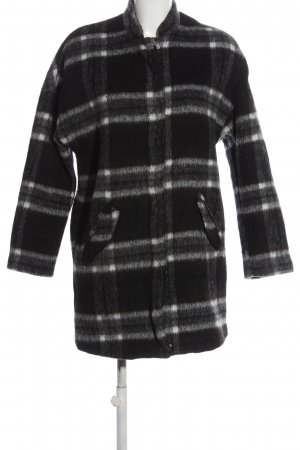 H&M Divided Winter Coat black-white allover print casual look