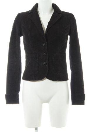 H&M Divided Woll-Blazer dunkelbraun-weiß 90ies-Stil