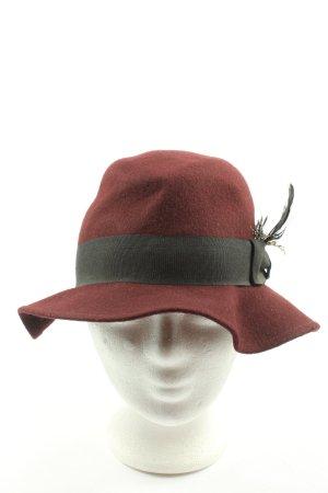 H&M Divided Chapeau en laine rouge style décontracté