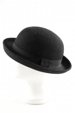 H&M Divided Wollen hoed zwart zakelijke stijl