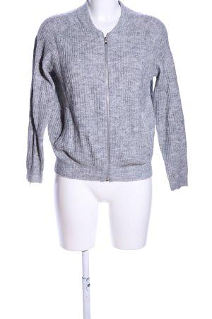 H&M Divided Wolljacke hellgrau meliert Casual-Look