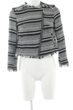 H&M Divided Wolljacke schwarz-wollweiß Streifenmuster schlichter Stil