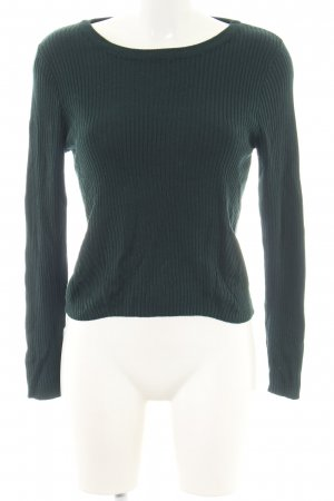 H&M Divided Wollpullover khaki Streifenmuster Casual-Look