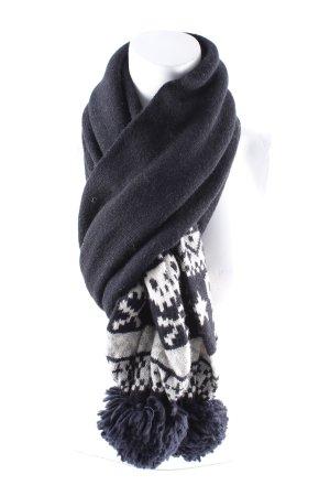 H&M Divided Wollen sjaal zwart pluizig