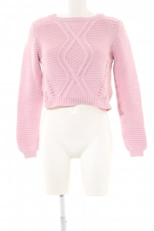 H&M Divided Zopfpullover pink Casual-Look