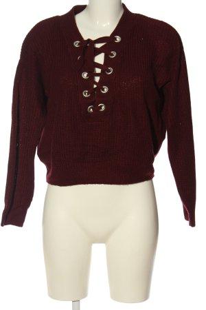 H&M Divided Jersey trenzado rojo look casual