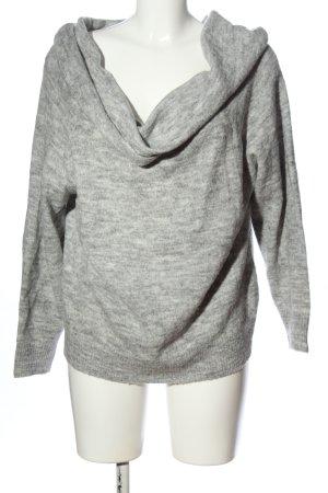 H&M Divided Warkoczowy sweter jasnoszary Melanżowy W stylu casual