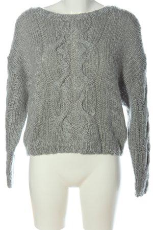H&M Divided Maglione intrecciato grigio chiaro punto treccia stile casual