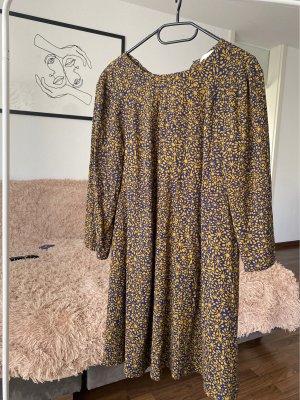 H&M Sukienka tunika ciemnoniebieski-brąz