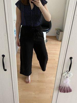 Pantalone a 3/4 nero-blu