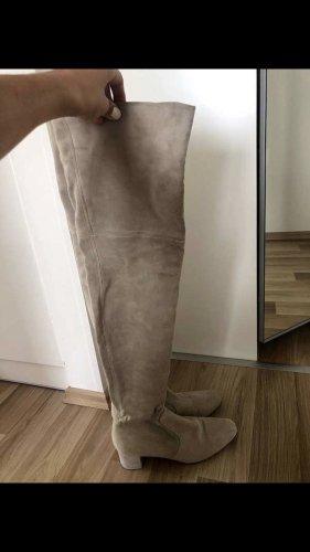 H&M Echt Leder Over the Knee Stiefel