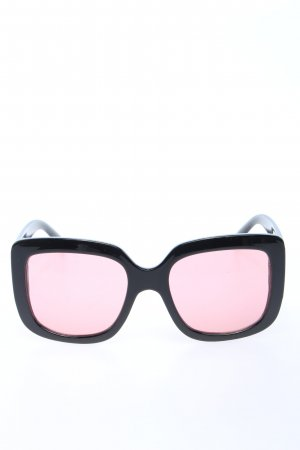 H&M Lunettes de soleil angulaires noir-rose style décontracté