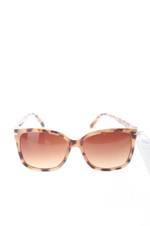 H&M Kwadratowe okulary przeciwsłoneczne w kolorze białej wełny-czarny