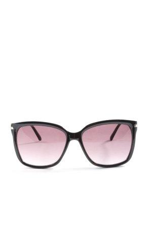 H&M Lunettes de soleil angulaires noir style d'affaires
