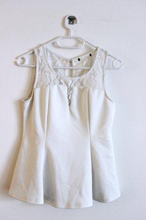 H&M Peplum Top white
