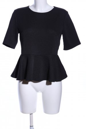 H&M Koszula z odcięciem pod biustem czarny W stylu biznesowym