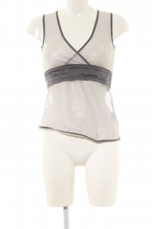 H&M Empire Waist Top light grey-natural white extravagant style