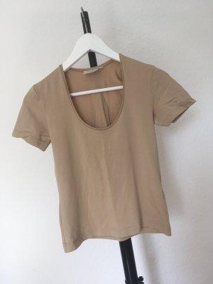 H&M Enganliegendes Shirt S beige