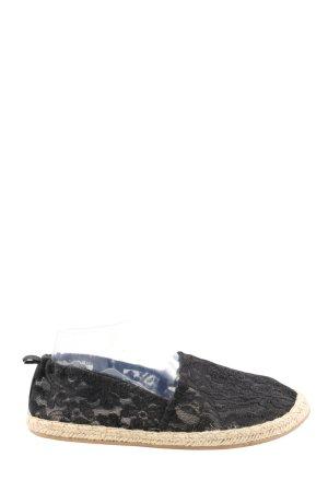 H&M Espadrilles-Sandalen schwarz-creme Casual-Look