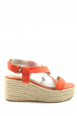 H&M Espadrille Sandals red-natural white casual look