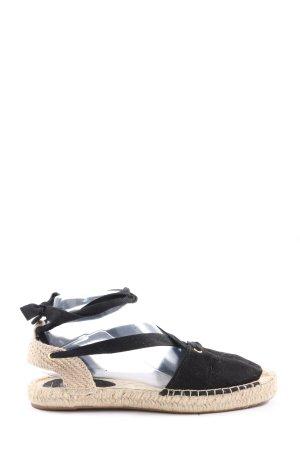 H&M Espadrilles-Sandalen schwarz Casual-Look