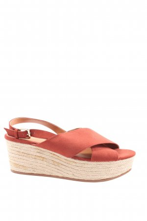 H&M Wedge Sandals red casual look