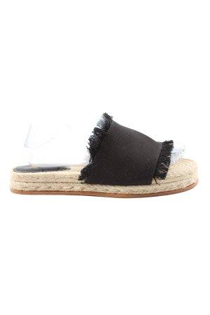 H&M Espadrilles-Sandalen schwarz-wollweiß Casual-Look