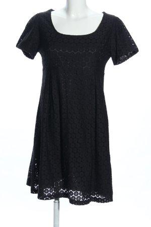 H&M Etuikleid schwarz Blumenmuster Elegant