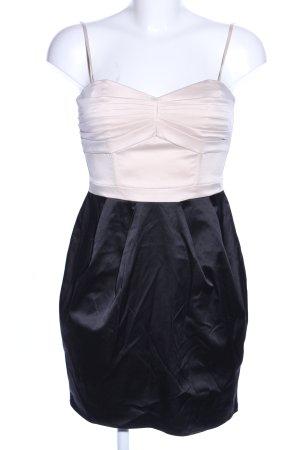 H&M Vestido ceñido de tubo negro-blanco estilo extravagante