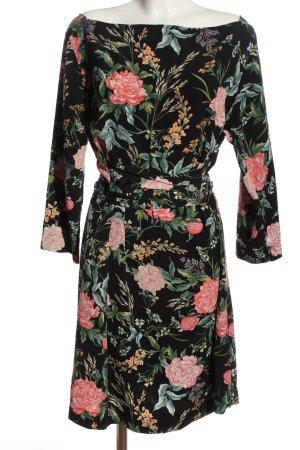 H&M Etuikleid Blumenmuster Casual-Look