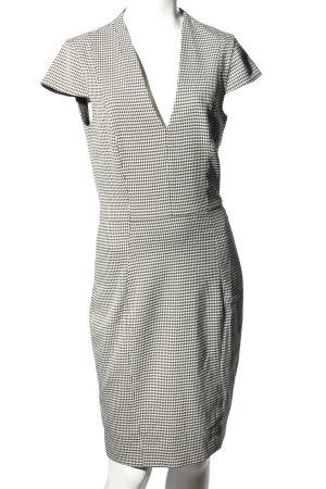 H&M Etuikleid weiß-schwarz Allover-Druck Elegant