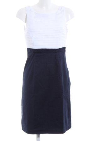 H&M Etuikleid dunkelblau-weiß Elegant