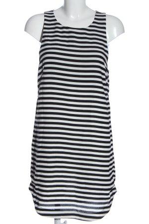H&M Etuikleid weiß-schwarz Streifenmuster Casual-Look